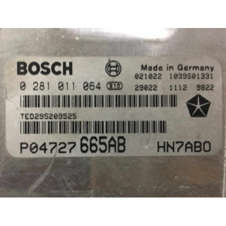 ECU MOTOR BOSCH EDC15C5-7.18 0281011064 CHRYSLER P04727665AB