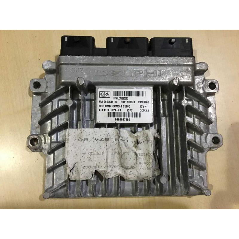 ECU MOTOR DELPHI DCM3.4 R0413C007B PSA 9663548180
