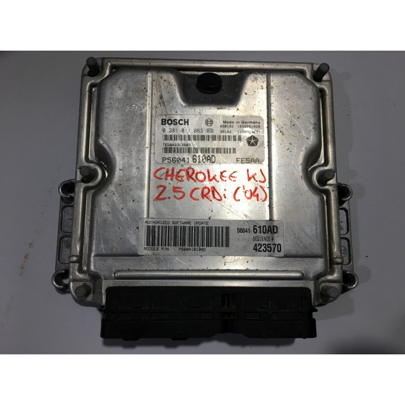 ECU MOTOR BOSCH EDC15C5-7.18 0281011063 CHRYSLER P56041610AD