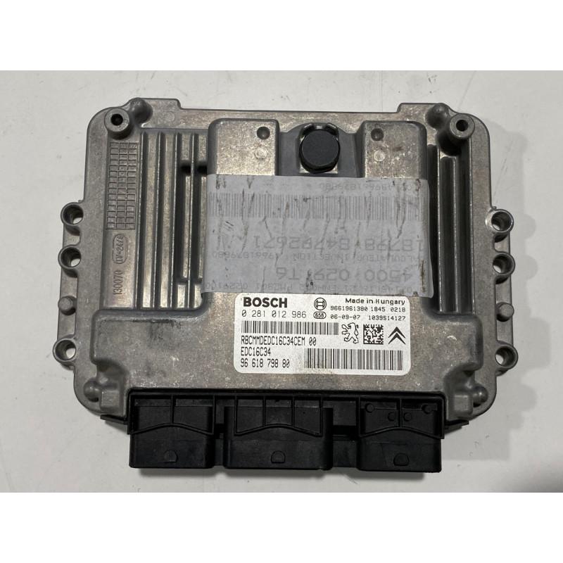 ECU MOTOR BOSCH EDC16C34-4.11 0281012986 PSA 9661879880