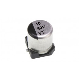 CONDENSADOR ELECTROLITICO ALUMINIO SMD 10 50V VT - 10uF 50V