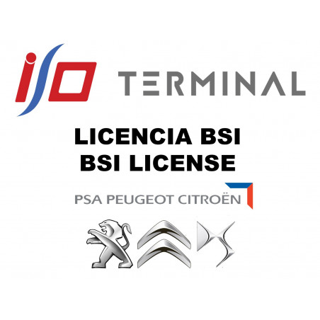 I/O TERMINAL PSA BSI SOFTWARE LICENSE