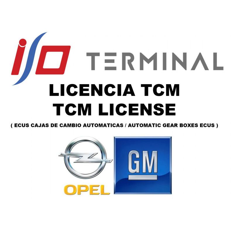 I/O TERMINAL OPEL TCM SOFTWARE LICENSE