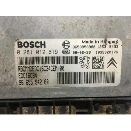 ECU MOTOR BOSCH EDC16C34-4.11 0281012619 PSA 9665594280