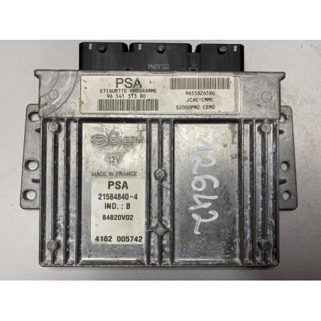 ECU MOTOR SAGEM S2000PM2 21584840-4 PSA HW 9655826580 SW 9654131380